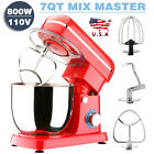Pro Electric Food Stand Mixer 7 QT Tilt-Head 6 Speeds Stainless Steel Bowl Red photo