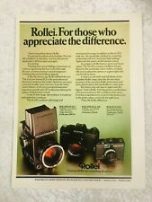 ROLLEI CAMERA SLX SL LED POSTER ADVERT READY FRAME A4 SIZE FILE A