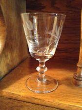 12 Quality Crystal Grey Cut Leaf With Wafer Stem Wine Glasses Goblets