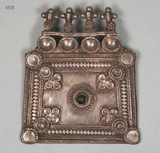 antike orient nomaden schmuck Silber Anhänger afghanistan Pendant necklace 17/2
