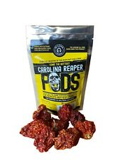 Carolina Reaper Pepper whole pods 1/4 oz worlds hottest hotter than Ghost Pepper