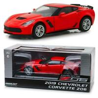 GREENLIGHT 18251 2019 Chevrolet Corvette Z06 Coupe - Torch Red Diecast Car 1:24