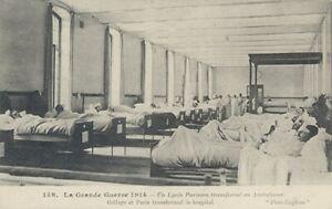 14-18 CPA Grande Guerre/ Ambulance dans un Lycée parisien / 1915 / Superbe