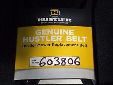 NEW Hustler Lawnmower Belt 603806 NOS Lawn Mower super z part 603806-A FREE SHIP