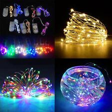 Nuevo 1-3M Funciona con Pilas LED Alambre de Cobre Cuerda Fairy Luces Navidad Rh