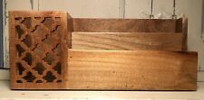 Solid Wood Desk Organizer Mail Letters Bills Pens Sorter Tabletop Storage