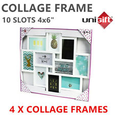 "10 In 1 Picture Photo Frame Collage Frame 4""x 6"" Frames Black/White"