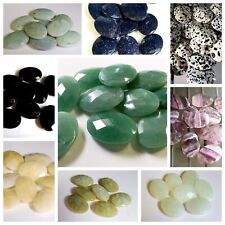 Semi-precious Gemstone Faceted Pendants - Ovals - 20 x 30mm Each - CHOOSE