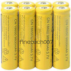 8pcs 18650 3.7V 9800mAh Yellow Li-ion Rechargeable Battery Cell For Torch FS