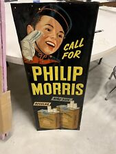 Vintage Rare Phillip Morris Johnny Cigarettes Tobacco Sign