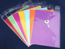 500 Clear Cello Cardmaking Adhesive Sleeves Bags C6 120x170mm FREE POSTAGE