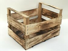 Holzkiste Obstkiste Dekokiste Weinkiste Kisten Holz Geflammt Deko ca 40x30x27 cm