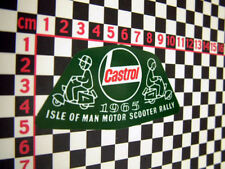 Vintage Style Isle of Man Scooter Sticker 1965 - Vespa Lambretta ISO Mods
