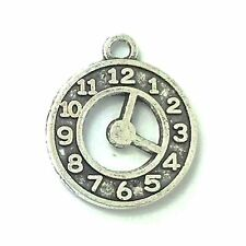 Tibetan Silver Hollow Clock Face Charm Alice In Wonderland Watch Pendant Qty 10