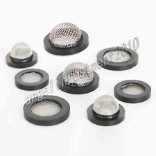 New 10pcs Stainless steel rubber filter mesh Seal ring
