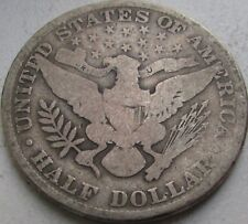 1908 Barber Silver Half Dollar in a SAFLIP® - VG- (Good+)