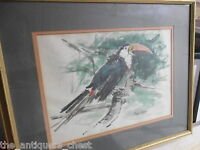 MOYA COZENS (American, 1920-1970),  watercolor of a Bird, professionally framed