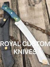 ROYAL CUSTOM HANDMADE D2 Steel Big Foot Tanto Hunting Bowie Knife