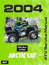 Motorcycle atv manuals literature ebay 2004 arctic cat atv 250 300 400 500 tbx trv shop service repair manual 04 on fandeluxe Choice Image
