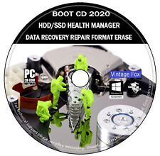 Hard Drive SSD Manager Data Recovery Repair Health Check Format Erase Windows CD