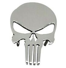 """7"""" Car Grille Badge Emblem Billet Punisher Logo Aluminum Polish Finish Truck"""