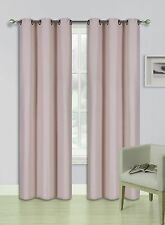 2PC Insulated Foam Lined Heavy Thick Blackout Grommet Window Curtain Panels KK92