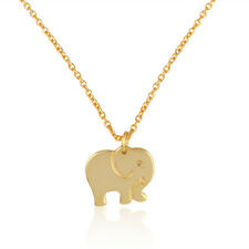 Handmade Gold Plated Elephant Designer 925 Plain Silver Pendant Necklace