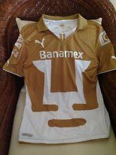 PUMAS  UNAM HOME PUMA SHORT SLEEVE SOCCER/FUTBOL JERSEY 2013/14 NWT Size M MENS