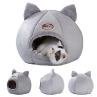 Pet Cat Dog House Kennel Puppy Kitten Cave Sleeping Bed Mat Warm Nest Cushion