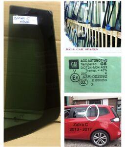 Vauxhall Zafira C. Window Glass Door Passengers Side Rear  2013. 2014. 2015 Tint