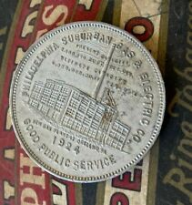 Vintage 1924 Philadelphia Suburban Gas Electric Company Shareholder Coin Token