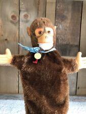 Vintage Hermann Teddy Germany Monkey/Chimp Plush Hand Puppet Toy Mohair