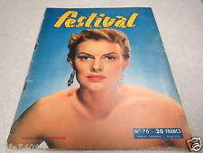 MAGAZINE REVUE JOURNAL FESTIVAL CINEMA N° 76 MARION MARSHALL 1950 *