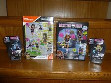 Monster High Construx FEAR SQUAD Cleo Venus Abbey Clawdeen Lagoona Mega Bloks