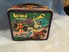 Vintage 1966 Batman and Robin Metal Lunchbox by Aladdin,no bottle.