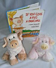 2 Plush Ganz Webkinz Pink Piglets Stuffed animal Bk: If You Give a Pig A Pancake