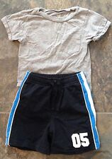 GYMBOREE ATHLETIC KNIT SHORTS & TCP GRAY SHIRT SUMMER SET OUTFIT BOY 18-24M