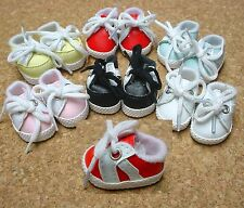 """Doll Shoes, 38mm YELLOW w White Sporty for 11"""" Kaye Wiggs, others"""