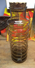 "Vintage Glass Holmegaard Primula Canister Jacob Bang Cork Lid 11"" Tall WOW!"