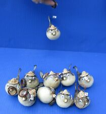 10 piece 3 to 4 inch Puffer Blowfish with hat and hanger taxidermy (S)