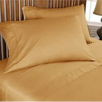 Complete Bedding Items 1000TC/1200TC Egyptian Cotton AU- Size Gold Solid
