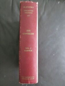 ISIS UNVEILED VOL 1 Collected Writings 1877 HELENA BLAVATSKY HC 1972 OCCULT