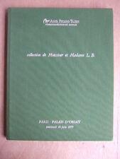 CATALOGUE VENTE JUIN 1979 ADER PALAIS ORSAY COLLECTION DE M & Mme L. B.
