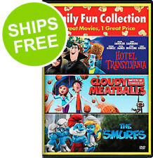 Cloudy with a Chance of Meatballs / Hotel Transylvania / The Smurfs (DVD, 2015)