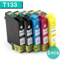 5 Ink Cartridges T133 133 for EPSON Printer NX125 NX130 NX420 Workforce 320 325