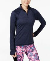 Ideology Womens Essential Half Zip Pullover Jacket Navy Serenity Size X-Small