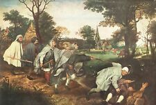 The Parable Of The Blind  by Bruegel the Elder Art Print 1958 Free Shippping