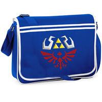 The Legend Of Zelda Triforce College Messenger Shoulder Bag Geeky Gamer Modern