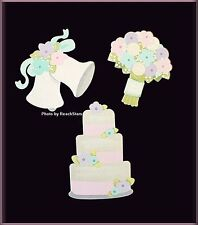 WEDDING DAY METAL MAGNETS EMBELLISH YOUR STORY by ROEDA™ SET OF 3 FREE U.S. SHIP