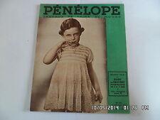 PENELOPE TRAVAUX DE LAINE ET MODES N°122 15 JUIL 1937 ROBE FILLETTE 4-5 ANS  F91